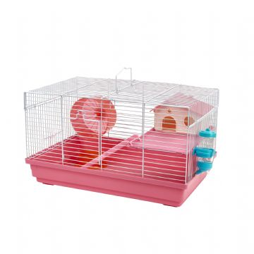 Pet Ting Pink Heather Rodent Cage